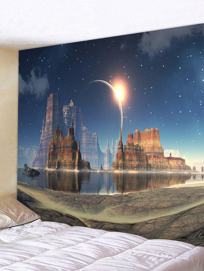 Best Mountains Lake Starry Night Sky Printed Tapestry  Wall Art