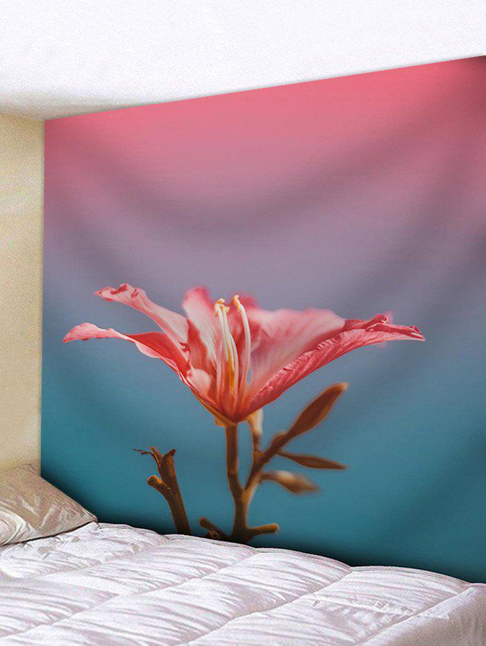 Shop A Red Flower Print Wall Hanging Tapestry