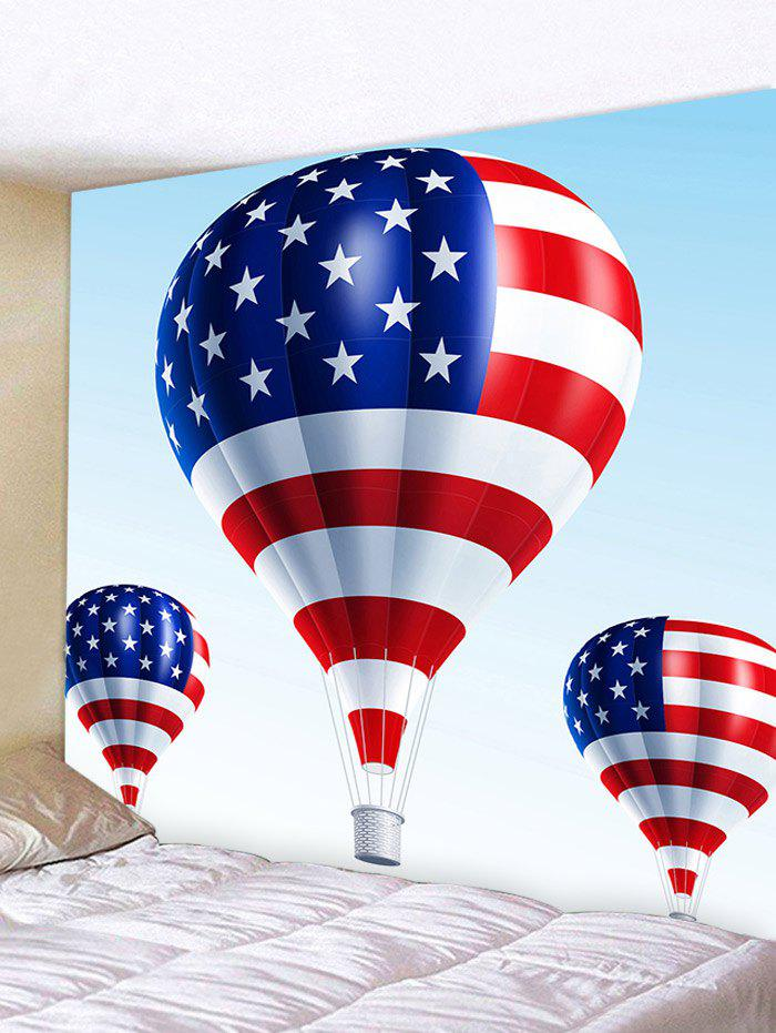 Chic American Flag Fire Balloon Pattern Wall Hanging Tapestry