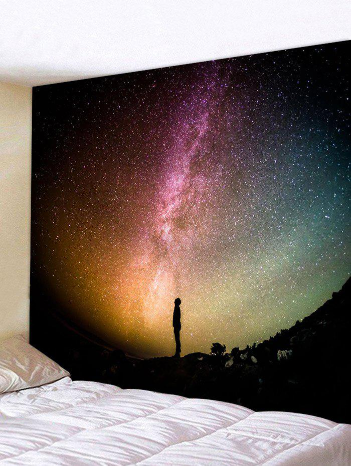 Trendy The Sky at Night Pattern Wall Hanging Tapestry