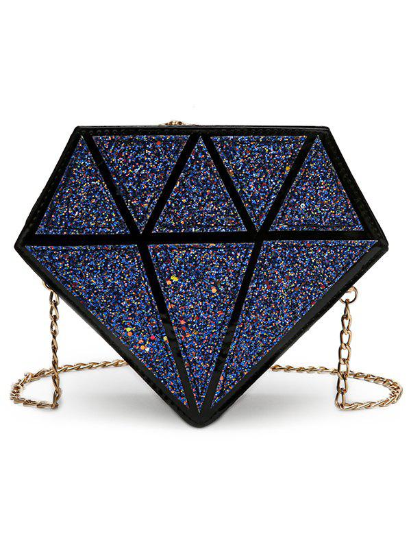 Discount Irregular Shaped Sequins Party Crossbody Bag with Chain