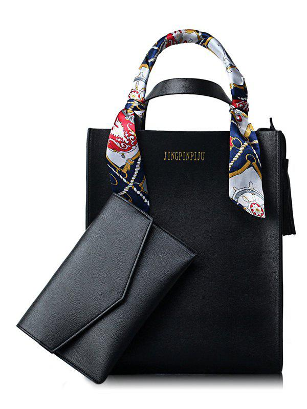 Cheap Scarf Casual Shopping 2 Pieces Tote Bag Set