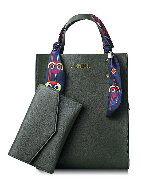 Hot Scarf Casual Shopping 2 Pieces Tote Bag Set