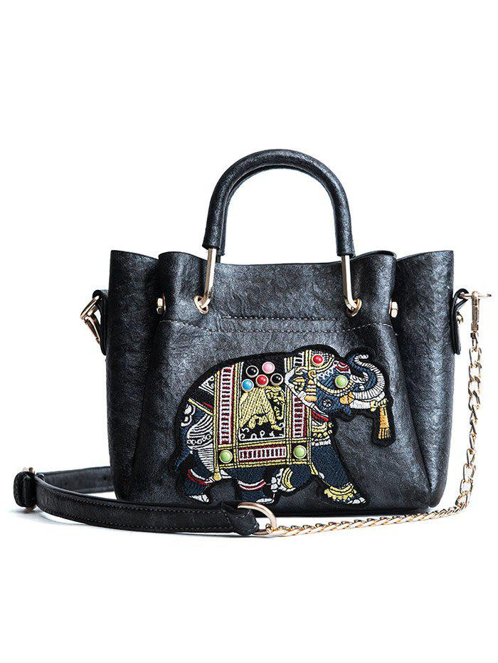 Outfit Beading Embroidery Vintage Tote Bag