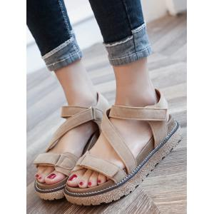 Casual Strappy Hook and Loop Closure Sandals -