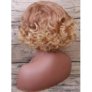 Short Side Bang Shaggy Colormix Curly Synthetic Wig -