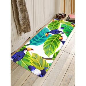 Birds and Leaves Pattern Water Absorption Area Rug -