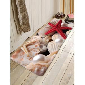 Starfish Pearls Shells Printed Home Decor Area Rug -