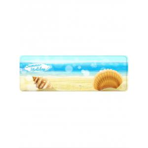 Sea Waves Shells Beach Printed Area Rug -