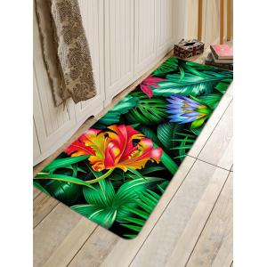 Forest Flowers Printed Home Decor Floor Mat -