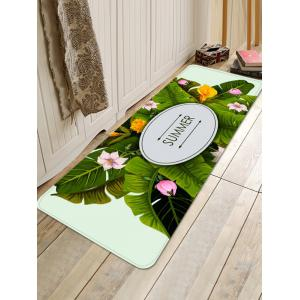 Leaves Flowers Printed Home Decor Area Rug -