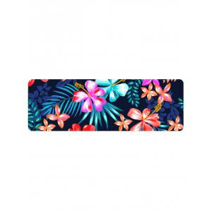 Home Decor Blooming Flowers Printed Floor Mat -