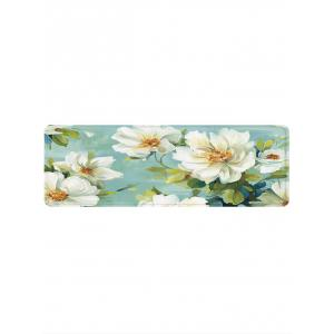 Flowers Pattern Anti-skid Water Absorption Area Rug -