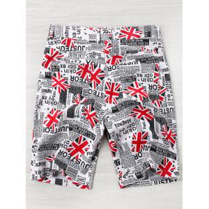 Shorts de journal de drapeau d'Union High Rise -