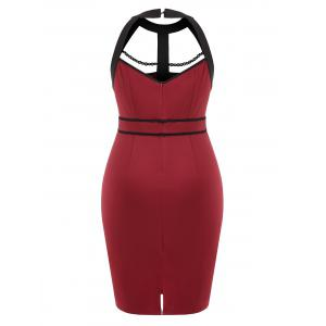 Back Cut Out Plus Size Pencil dress -
