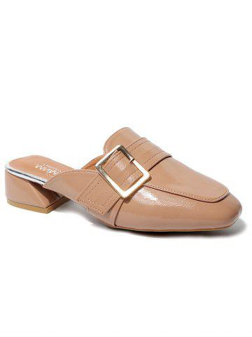 Latest Square Toe Low Heel Chic Mules Shoes