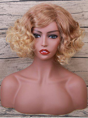 Discount Short Side Bang Shaggy Colormix Curly Synthetic Wig