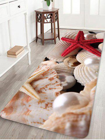 Starfish Pearls Shells Printed Home Decor Area Rug
