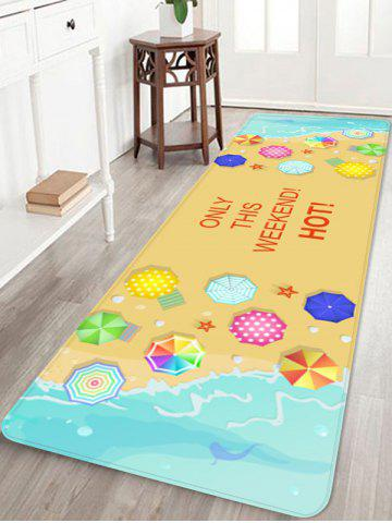 New Seaside Waves Seaside Holiday Printed Home Decor Area Rug