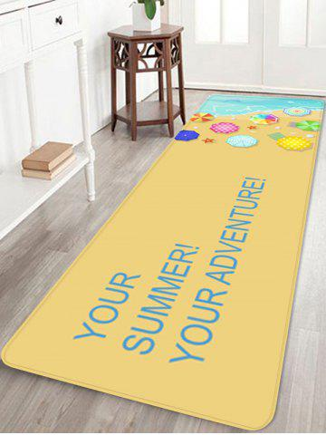 Online Holiday Beach Relaxation Print Area Rug