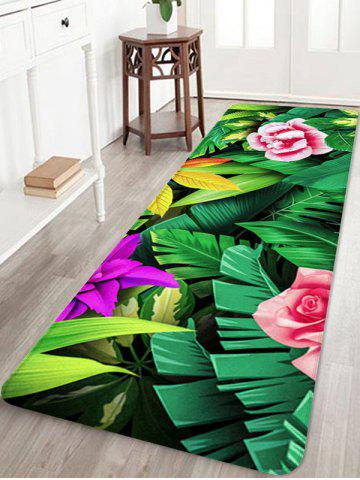 Cheap Forest Flowers Printed Floor Decor Area Rug