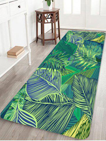 Outfits Tropical Leaves Pattern Anti-skid Floor Area Rug