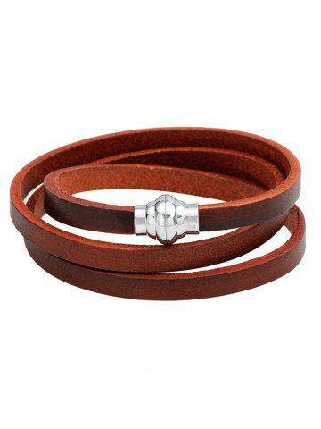 Outfit PU Leather Magnetic Buckle Wrap Bracelet