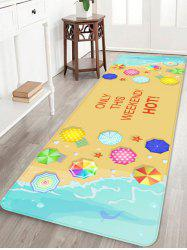 Seaside Waves Seaside Holiday Printed Home Decor Area Rug -