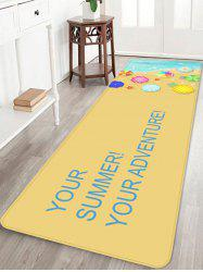 Holiday Beach Relaxation Print Area Rug -