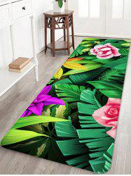 Forest Flowers Printed Floor Decor Area Rug -