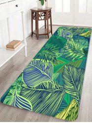 Tropical Leaves Pattern Anti-skid Floor Area Rug -