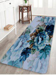 Blooming Peony Flowers Printed Home Decor Floor Mat -