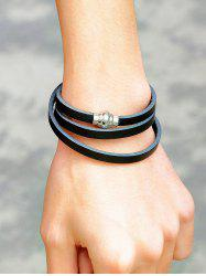 PU Leather Magnetic Buckle Wrap Bracelet -