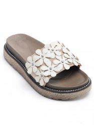 All Over Floral Platform Outdoor Slippers -