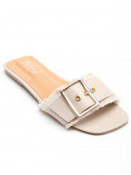 Outdoor Casual Metal Buckle Slides -