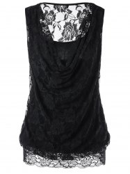 Lace Insert See Thru Tank Top -
