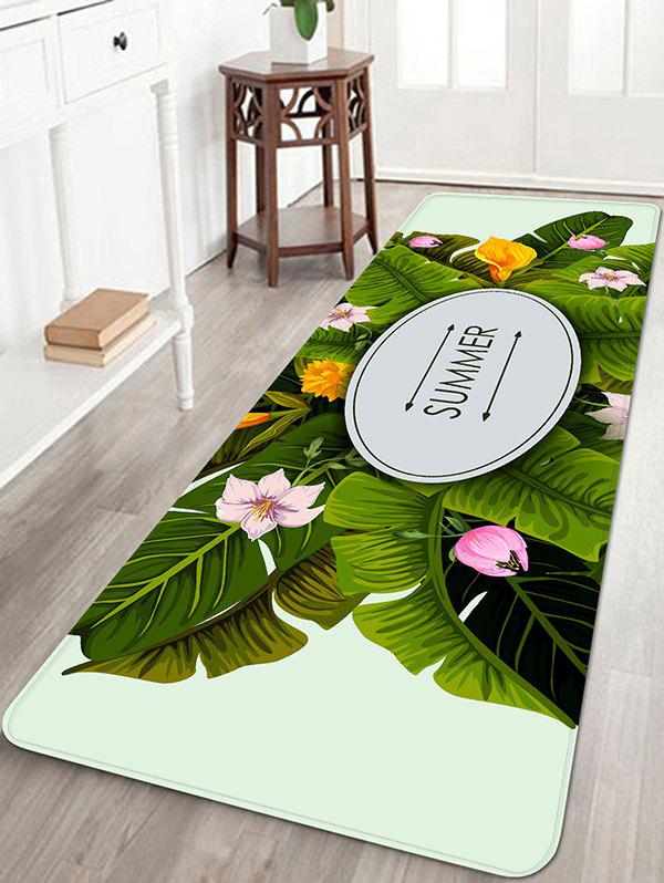 Discount Leaves Flowers Printed Home Decor Area Rug