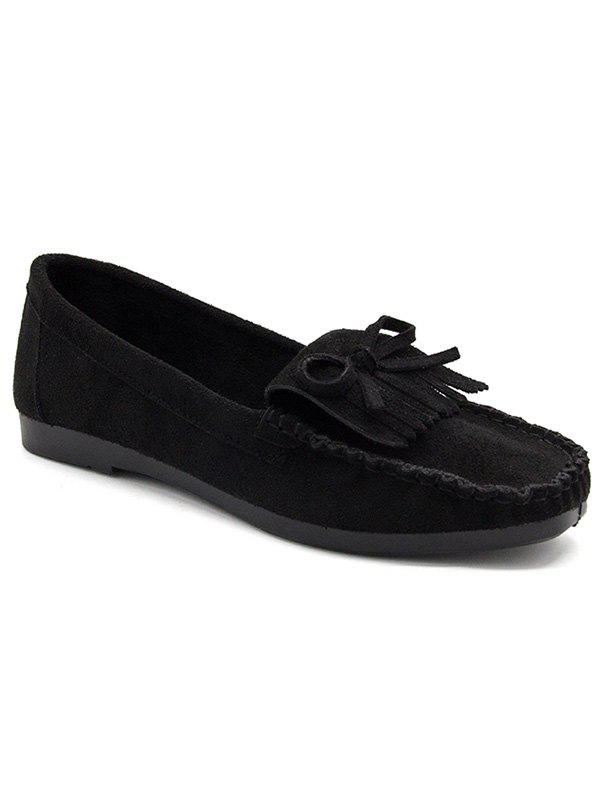 Fashion Bowknot Fringes Flat Heel Loafers
