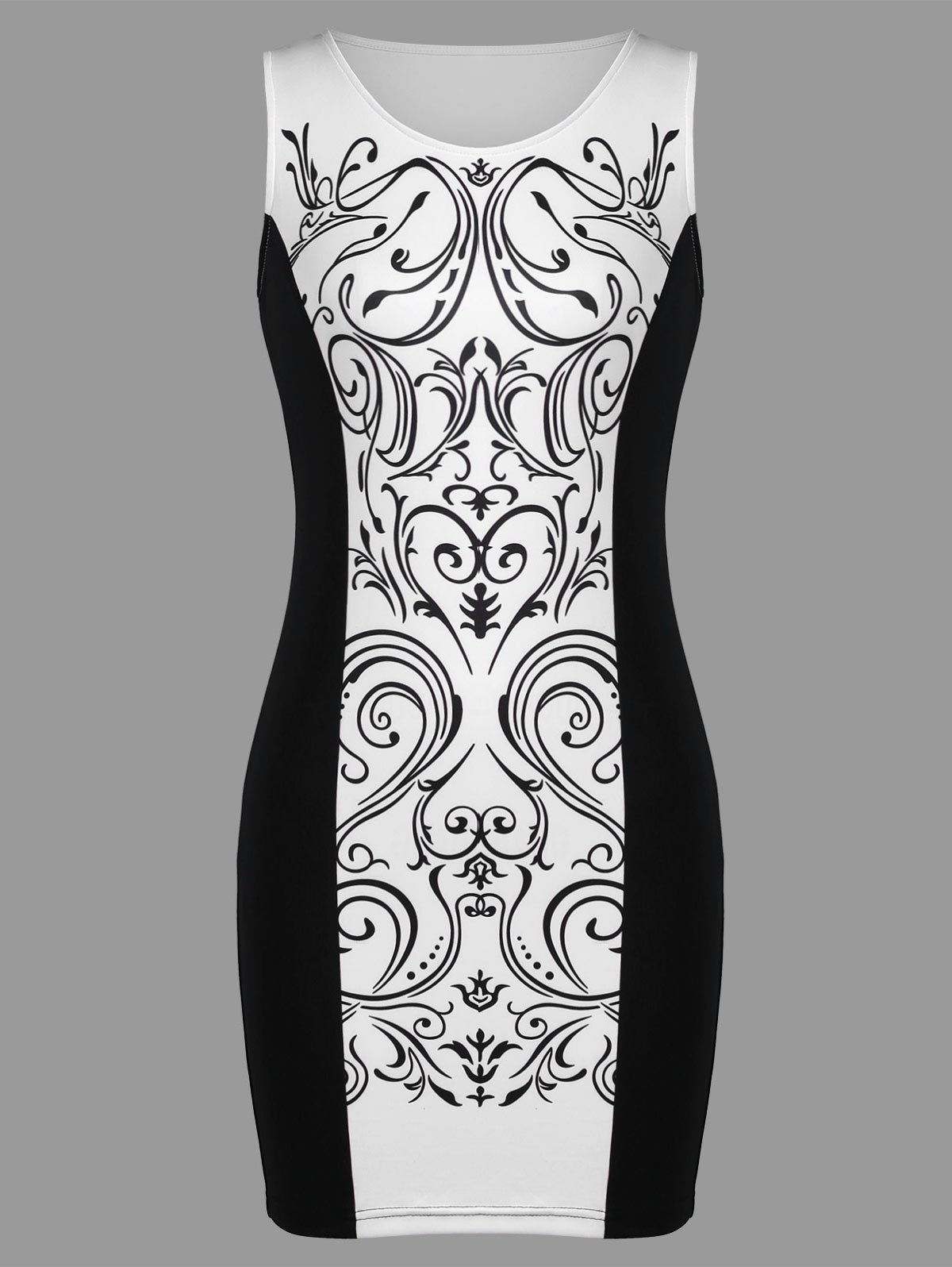Latest Baroque Print Sleeveless Tight Dress