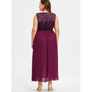 Plus Size Lace Insert Maxi Maternity Dress -