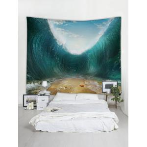 Starfish Beach Sea Wave Print Wall Hanging Tapestry -