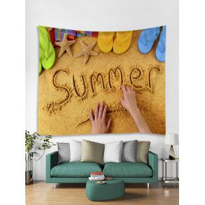 Summer Beach Print Wall Hanging Tapestry -