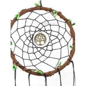 Wall Hanging Decor Metal Tree Beads Feather Dream Catcher -