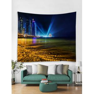 City Seaside Print Wall Hanging Tapestry -