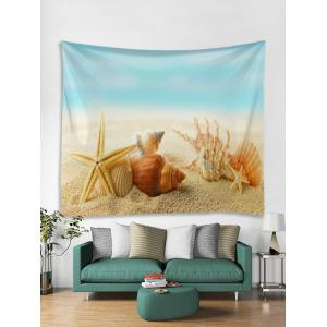Conch Shell plage Starfish impression Wall Art Tapestry -