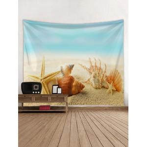 Conch Shell Beach Starfish Print Wall Art Tapestry -