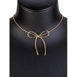 Bow Necklace with Lobster Clasp -