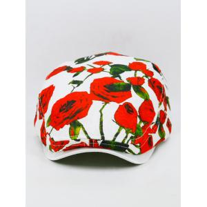 Romantic Rose Pattern Newsboy Hat -