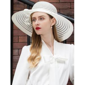 Striped Pattern Bowknot Sun Hat -