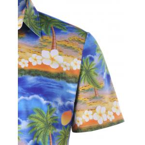 Button Up Printed Beach Shirt -